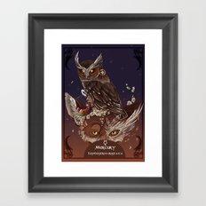 Solarowls mercury  Framed Art Print