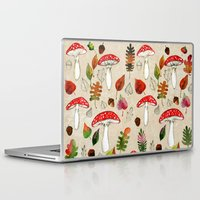 mushrooms Laptop & iPad Skins featuring Mushrooms by Minasmoke