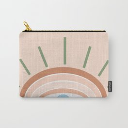 Retro evil eye - neutrals Carry-All Pouch