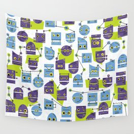 Robots Doodle Wall Tapestry
