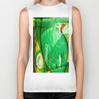 golf Biker Tanks featuring Golf Anyone? by Robin Curtiss