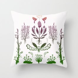 Plants, Decay Throw Pillow