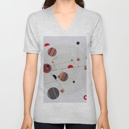 Abstract Composition 567 Unisex V-Neck