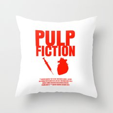 Pulp Fiction Movie Poster Throw Pillow