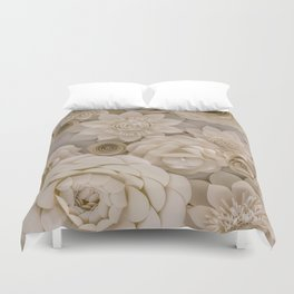 Paper Bouquet Duvet Cover