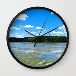 Lake Shoreline Wall Clock