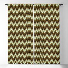 Brown Monochromatic zig-zag Blackout Curtain
