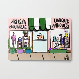 Antiques and Boutiques Metal Print