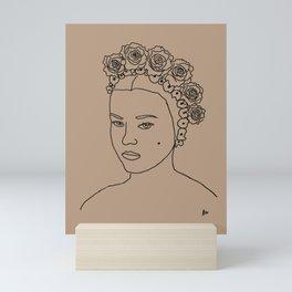 Katherine (Female with flowers portrait series) Mini Art Print