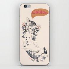 Wake Up Tiger - Beige iPhone & iPod Skin