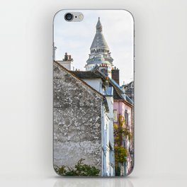 French street in Montmartre, Paris iPhone Skin