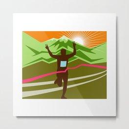 Marathon Race Finisher Metal Print