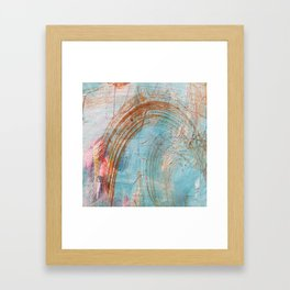 Curved Mark Making - Fourth in Series Framed Art Print