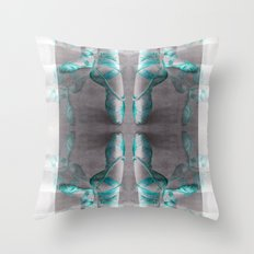 Ballet Shoe Blue reflection Throw Pillow