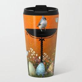 Easter eggs in the grass Travel Mug