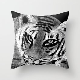 Tiger with White Background Throw Pillow