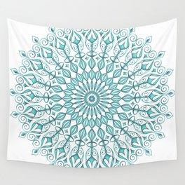 Aqua mandala Wall Tapestry