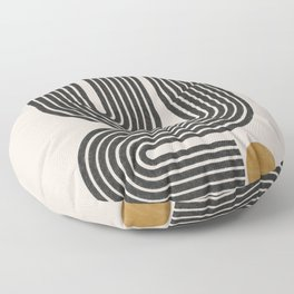 Mid Century Modern Line Floor Pillow