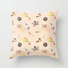 Pirates of the Candibbean  Throw Pillow