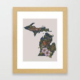 Michigan Framed Art Print