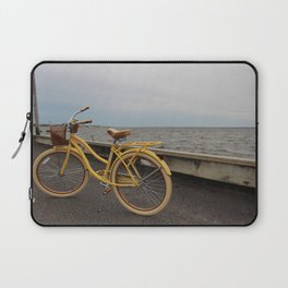 Yellow Beach Bike Laptop Sleeve