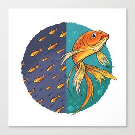 Goldfish & Goldfish School Canvas Print