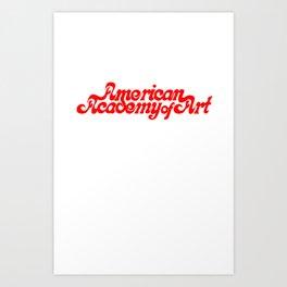 American Academy of Art 1980's Logo. Art Print