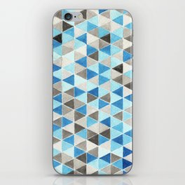 #54. CHRIS - Triangles iPhone Skin