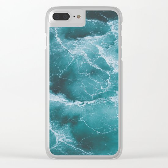 Electric Ocean Clear iPhone Case