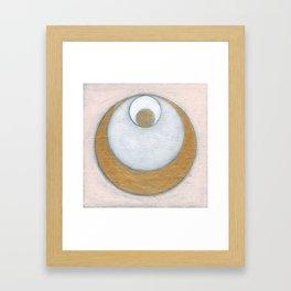 Gold Pink Moon Framed Art Print