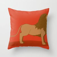 lannister Throw Pillows featuring Hear Me Roar by Alexandra Sutherland