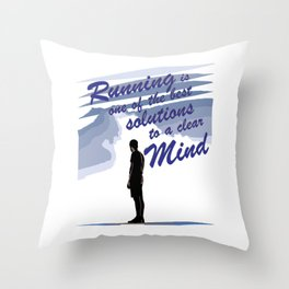 Runnig is one of the best Solution Throw Pillow