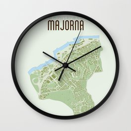 Map of the people's republic of Majorna Wall Clock