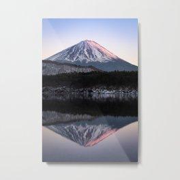 Mount Fuji in Rose Metal Print