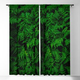 Deep Forest Ferns Blackout Curtain