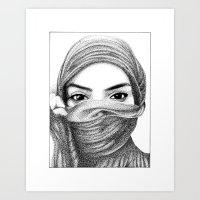 kiki Art Prints featuring Kiki by BenHucke
