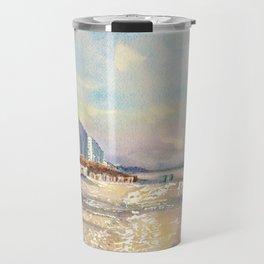 Sea Isle City New Jersey Gazebo and Beach Travel Mug