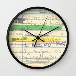 Library Card 3503 Exploring the Moon Wall Clock