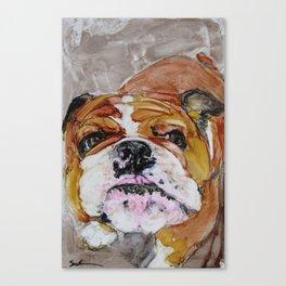 English Bulldog Love Canvas Print