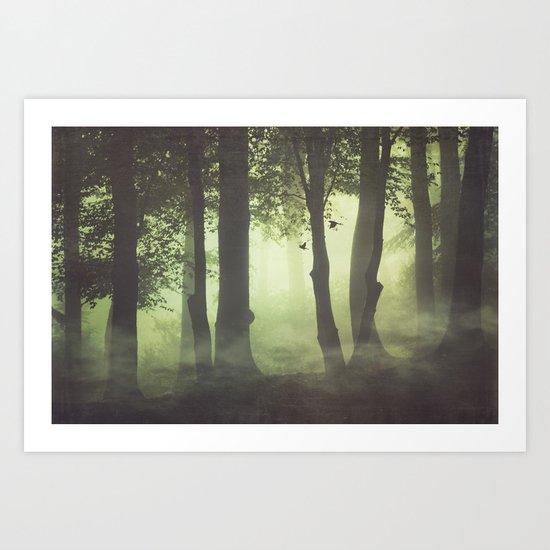 Wispy Forest Mists Art Print