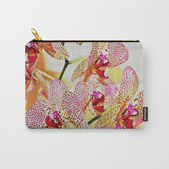 Painted Spotted Orchids Carry-All Pouch