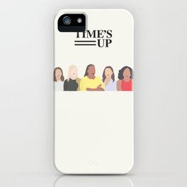 Time's Up #MeToo Women's Movement Print iPhone Case