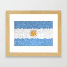 Extruded Flag of Argentina Framed Art Print