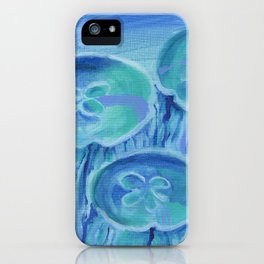 Striated Jelly Moons iPhone Case