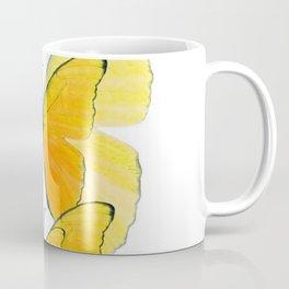 MODERN ART YELLOW BUTTERFLIES ABSTRACT Coffee Mug