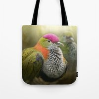 aperture Tote Bags featuring Superb Fruit Dove by Pauline Fowler ( Polly470 )