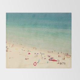 beach XIX Throw Blanket