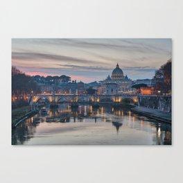 Saint Peter's Basilica at Sunset Canvas Print