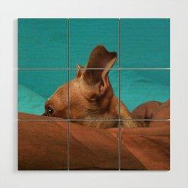 MADiSON (shelter pup) Wood Wall Art