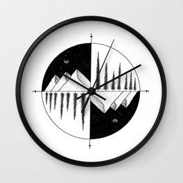 Nature Compass Wall Clock
